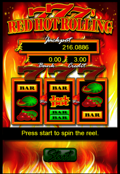 Red Hot Rolling 7's Screenshot